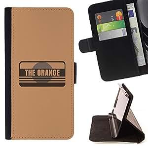 Momo Phone Case / Flip Funda de Cuero Case Cover - The Orange - Samsung Galaxy S6 EDGE