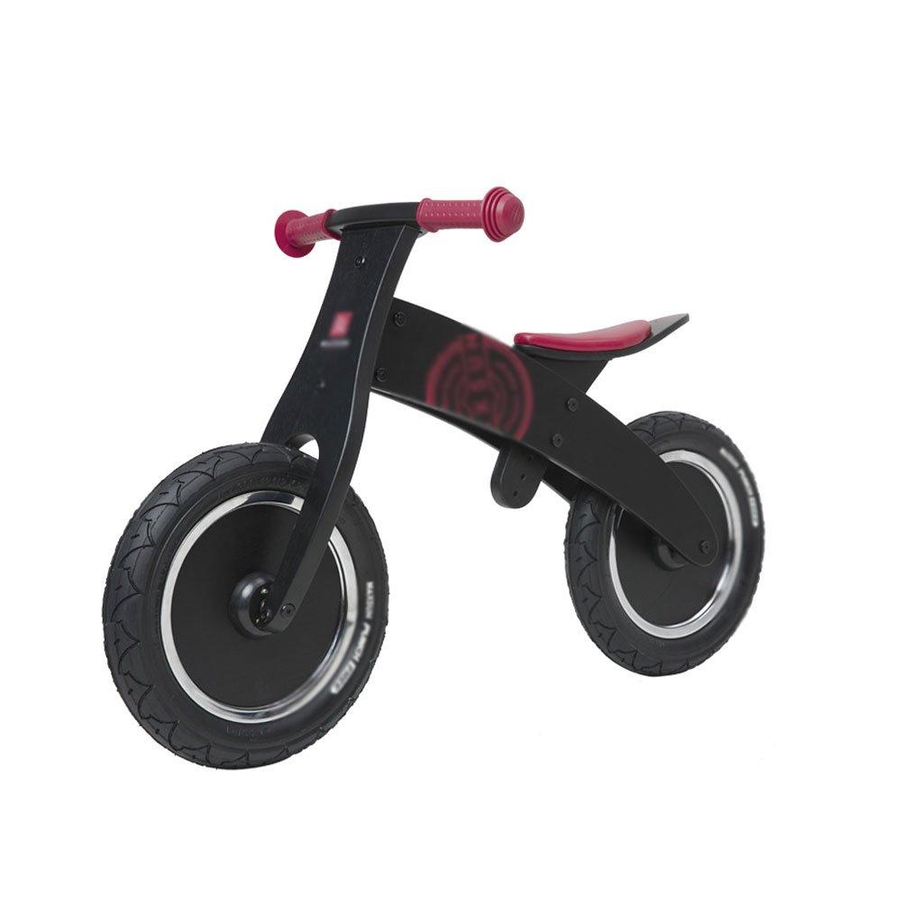 いいえペダル2輪のスクーターベビースクーター子供のスクーターペダルなしバギー子供ダブルホイール自転車2ラウンドバランス車の木2-6歳 B07F5BT75VBlack