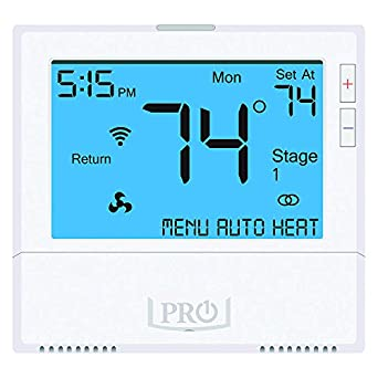 WiFi Thermostat, 7 Day Programmable, Stages 4 Heat/2 Cool