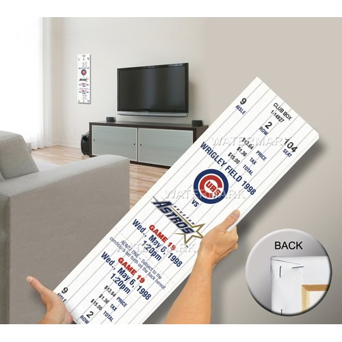 Baseball Ticket Wall Art (That's My Ticket Kerry Wood 20K Game Mega Ticket Wall Decor, Chicago Cubs)