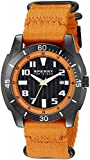 Sperry Top-Sider Men's 10023535 Sharktooth Stainless Steel Watch with Orange Canvas Band
