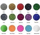 """Arts & Crafts : Fame Crafts Glitter Heat Transfer Vinyl (HTV), 12"""" x 10"""" 15-Color Starter BUNDLE"""