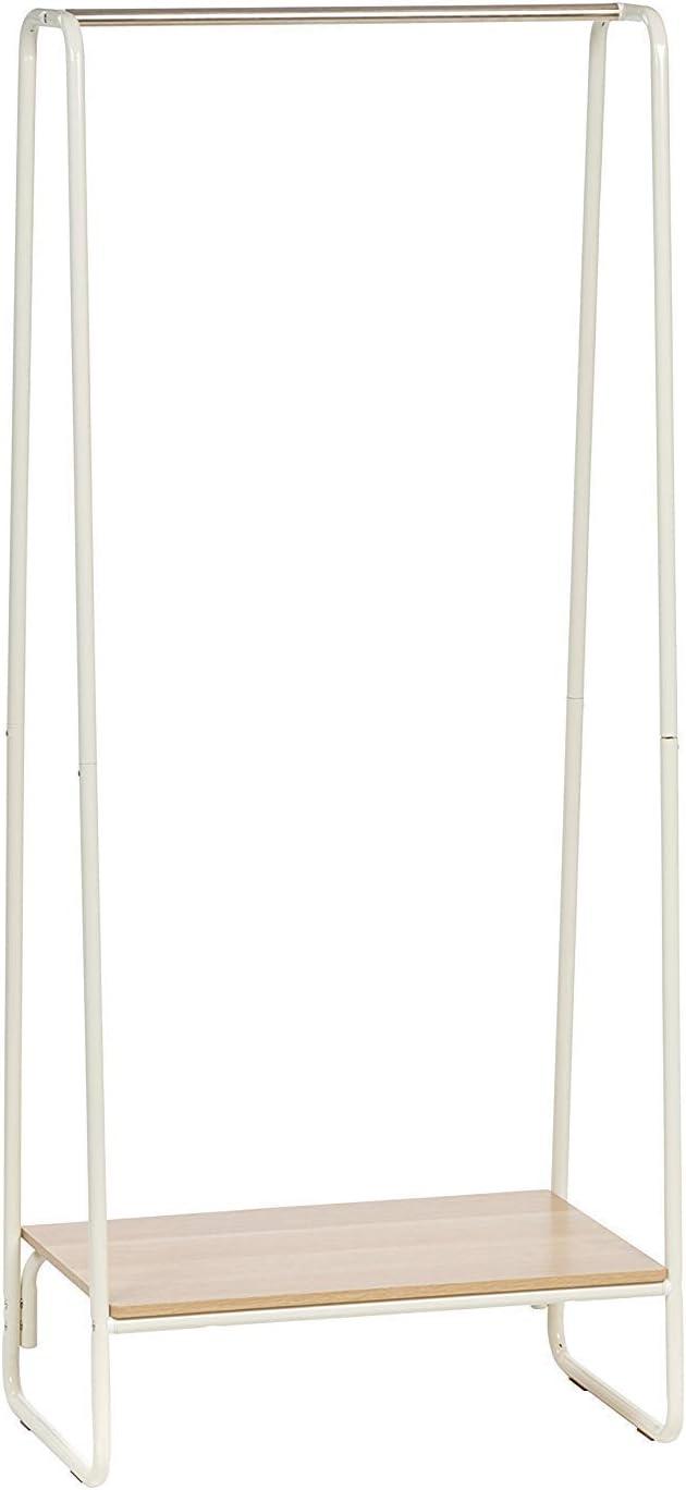 Multi shelves Iris Ohyama Clothes Garement MDF metal Garment Rack PI-B3-brown and black Wood 101.1 x 40 x 150 cm