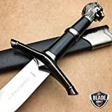 New 15. 5'' NARNIA LION'S HEAD MEDIEVAL ORNATE KNIGHT FANTASY DAGGER Sword EcoGift Nice Knife with Sharp Blade LARP- Great For Fun And Practical Use