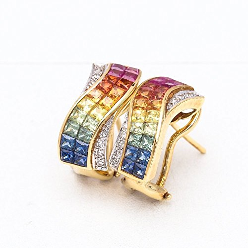 Diamond Nora (NORA RAINBOW SAPPHIRE & DIAMOND EARRINGS IN 18K GOLD)