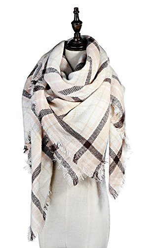 Lamamamas Plaid Blanket Scarf Warm Cozy Tartan Wrap Shawl Winter Scarfs for - One In Dress Square Shops