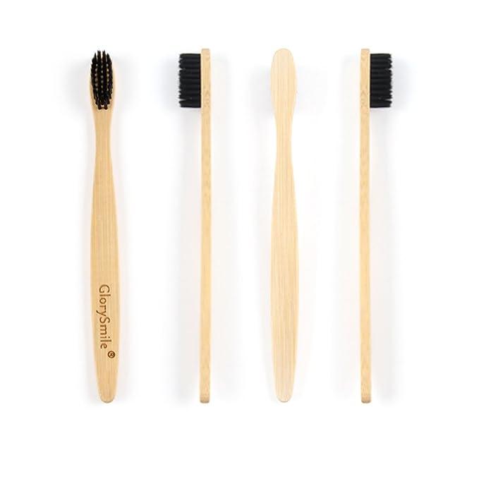 Cepillo de dientes de bambú, ecológico, 100 % biodegradable, cerdas de carbón: Amazon.es: Salud y cuidado personal