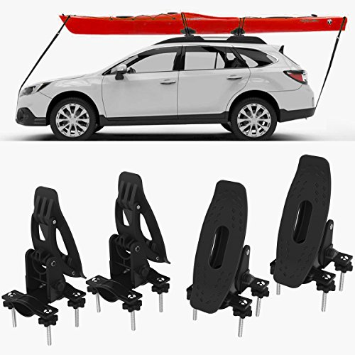 RoofTop Universal Saddles Kayak Carrier Canoe Boat. Surf Ski Roof Top Mounted on Car SUV Crossbar by RoofTop