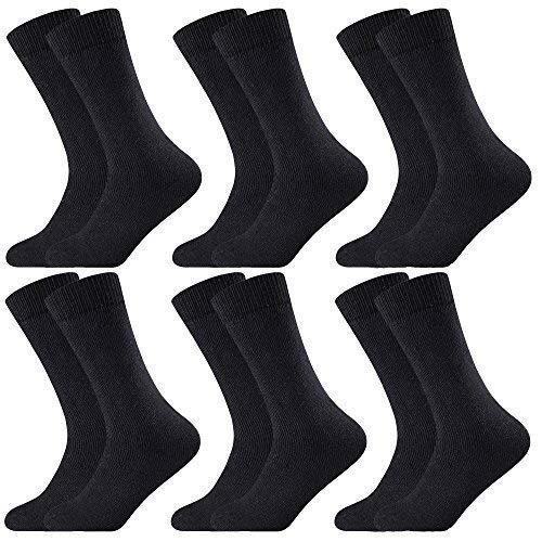 Get The Trend 12 PARES HOMBRE Calcetines Térmicos Invierno Grueso Cálido Calzado exterior Zapatos Trabajo Caminar ADULTO DEPORTE - 23118725 Negro, ...