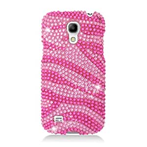 Eagle Cell Samsung Galaxy S4 Mini Diamond Protective Cover - Retail Packaging - Hot Pink Zebra