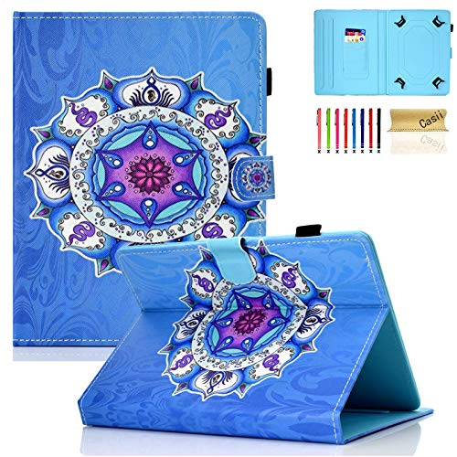 """Universal Case for 9.5-10.5 Inch Tablet, Casii Lightweight Premium PU Leather Folio Stand Protective Cover with Card Slots for All 9.5"""" -10.5"""" iPad Air/Galaxy/Fire HD 10 Tablet, Gyroscope"""