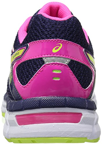 Asics Womens Gel-excite 3 Scarpa Da Corsa Mezzanotte / Hot Pink / Flash Giallo