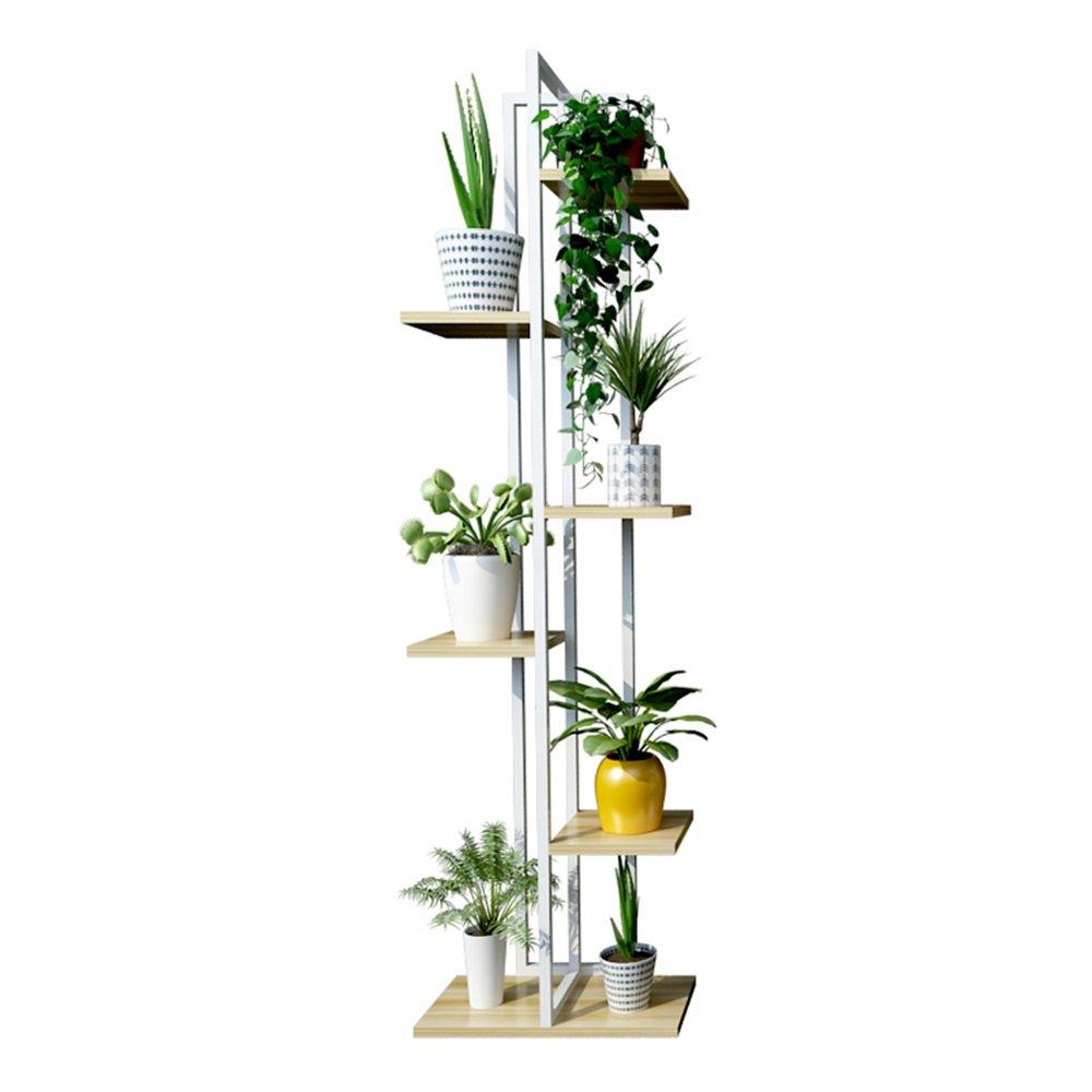 リビングルームバルコニーと多機能屋内/屋外の金属ホワイトスタンドラック盆栽ディスプレイスタンドのための5層アイアンフラワースタンド/フラワーラック (色 : #2) B07DG97JKH #2 #2