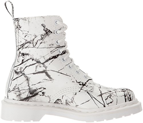 Dr. Martens Pascal White Patent Marble 21443100, Boots