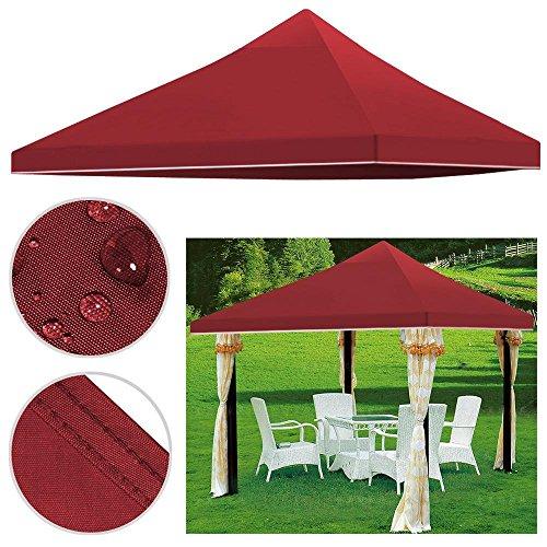 Yahee 3 x 3m Ersatzdach Pavillondach Dach für Pavillon Partyzelt Gartenzelt Festzelt, aus PVC+ Polyester wasserdicht robust