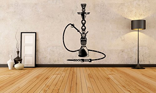 Vinyl Sticker Decal Wall Decor Poster Art Shisha Hookah Word Tribal Vase Bottle Lounge Water Pipe House Cafe Smoke Shop Store Indoor Outdoor Sign Set SA831 ()