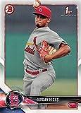 #6: 2018 Bowman Prospects #BP123 Jordan Hicks St. Louis Cardinals Baseball Card