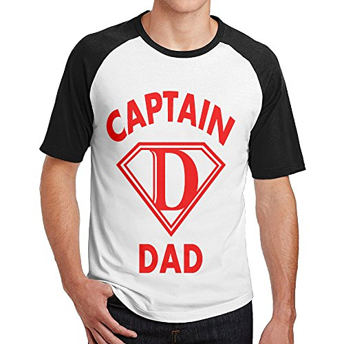 Double Happiness Raglan Captain Dad Tees Black L For Mens Or - Write For Cosmopolitan