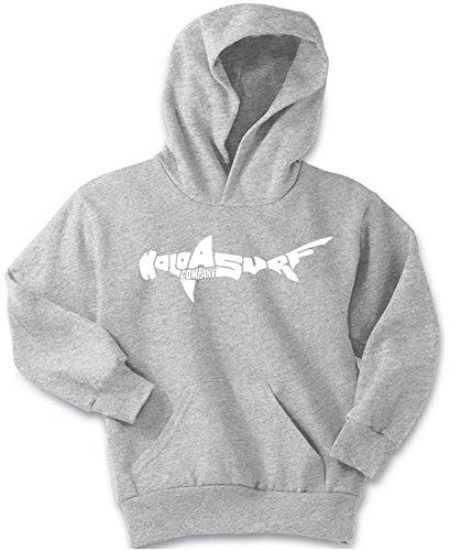 Koloa Shark Logo Youth Soft and Cozy Hoodies Size S-Ash ()
