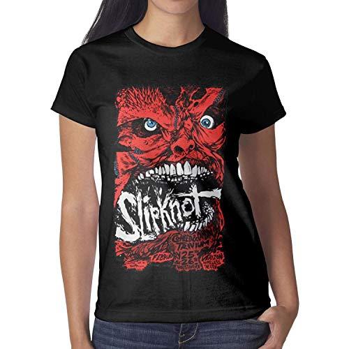 Women Slipknot-Red-mask- Tshirt Short-Sleeve -