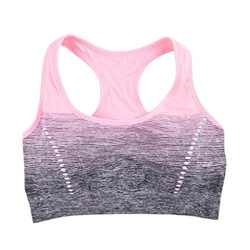 Female Gradual Color Shock-Proof Yoga Sports Bra Without Steel Ring Underwear