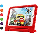 iPad Mini 4 Case for Kids, Dwopar Shockproof Light Weight EVA Protective Cover with Handle Stand for Boys and Girls Compatible with iPad Mini 4 Tablet - Red