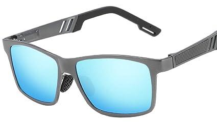 DaQao - Gafas de sol clásicas y rectangulares, de fibra de ...