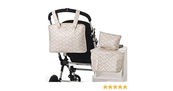 Bolso BEIGE tipo maleta Bolsito neceser IMPERMEABLE Cambiador Amplia oferta de modelos en: Koketes Mobibe Incluye: Bolso Bebelovers