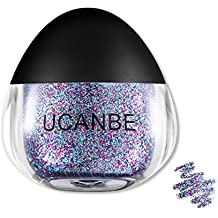 UCANBE Cream Glitter Gel for Body and Face, 0.63 fl. Oz (Glaucous-rose)