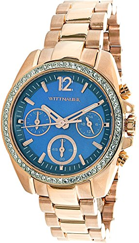 Wittnauer womens WN4041 16mm Stainless Steel Rose Gold Watch Bracelet (Wrist Gold Wittnauer Watch)
