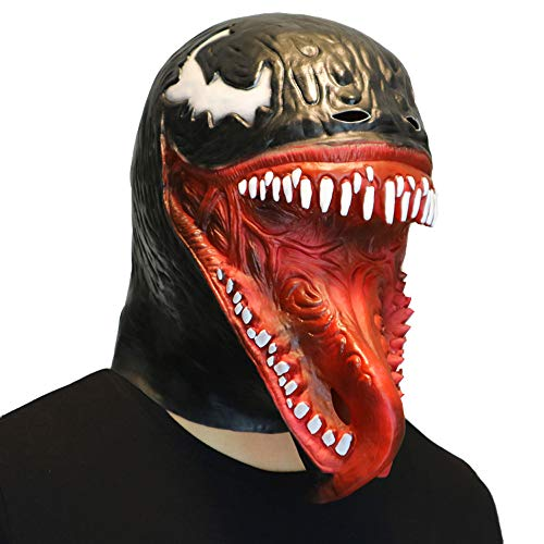Mintu Cosplay Universe Deluxe Venom Melting Latex Helmet Collectible Scary Mask Toy Face Costume Accessories ()