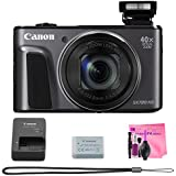 Canon PowerShot SX720 HS (Black), Premium Camera Works Cleaning Bundle