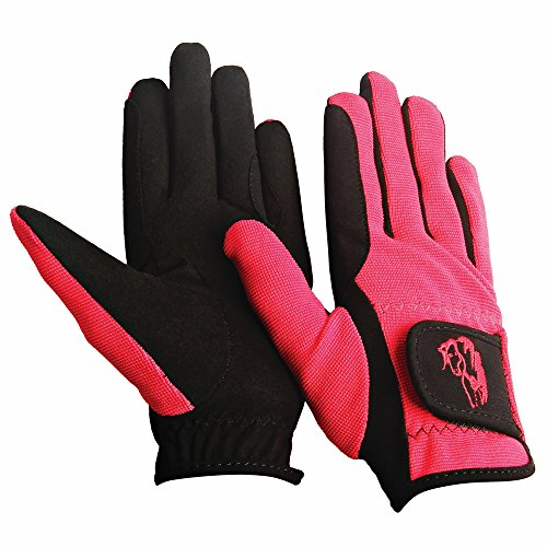 TuffRider Children's Performance Gloves (Raspberry, M)