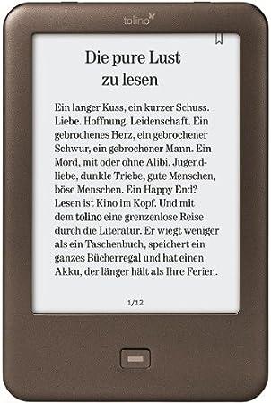 Tolino Shine Pantalla táctil 2GB WiFi Marrón lectore de e-Book ...