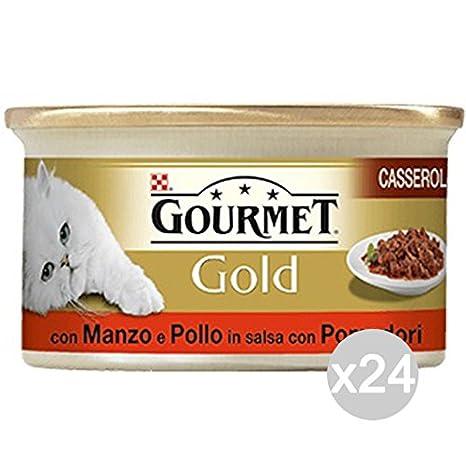 Purina Juego 24 Gourmet Gold Casser Manzo Pollo Gr 85 Comida para Gatos: Amazon.es: Productos para mascotas