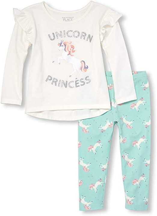NEW The Children/'s Place Toddler Girls Unicorn Princess Graphic T Size 18-24 M