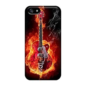 Iphone Case - Tpu Case Protective For Iphone 5/5s- Flaming Guitar