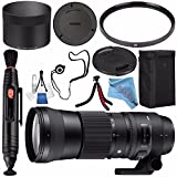 Sigma 150-600mm f/5-6.3 DG OS HSM Contemporary Lens for Nikon F #745306 + 95mm UV Filter + Lens Pen Cleaner + Fibercloth + Lens Capkeeper + Deluxe Cleaning Kit + Flexible Tripod Bundle