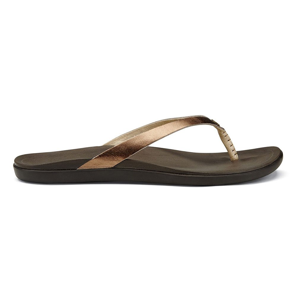Bronze Java OluKai Ho'opio Leather Sandal - Women's
