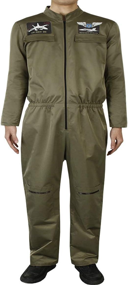 Marlon Nancy - Disfraz de piloto de Combate aéreo para Adulto ...