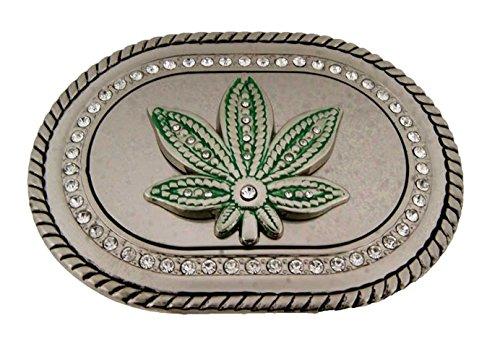 Wild Marijuana Pot Leaf Weed Cannabis Plant Belt Buckle Stoner Rasta Reggae