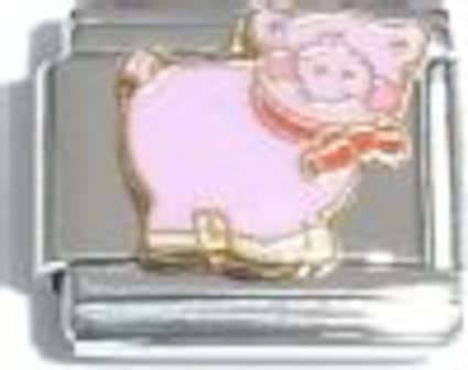 Pink Pig Italian Charm