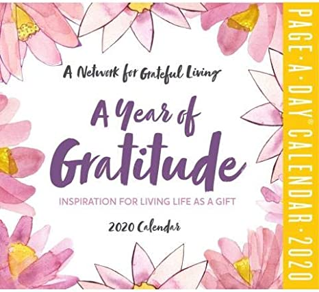Amazon.com: 2020 A Year Of Gratitude Daily Page-A-day Box/Desk