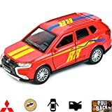 1:36 Scale Diecast Metal Model Car Mitsubishi Outlander Sport Crossover SUV Die-cast Toy Russian Cars