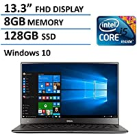 Dell XPS 13 13.3-Inch Laptop(Intel Core i5-6200U Processor, 8GB RAM, 128GB SSD, Backlit Keyboard, Windows 10)