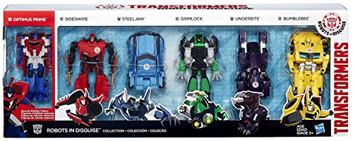 Transformers Robots in Disguise Collection Action Figure 6-Pack [3-Step Changer]