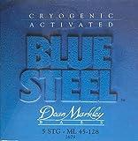 Dean Markley Blue Steel 5-String Electric Bass Strings, 45-128, 2679, Medium Light