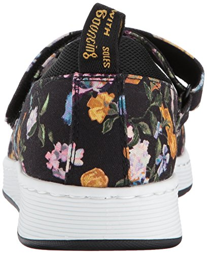 Darcy Jane sports Canvas Askins Martens Black Flat Mary Mesh Women's Floral Spacer Dr Fine DF 8SnqAX