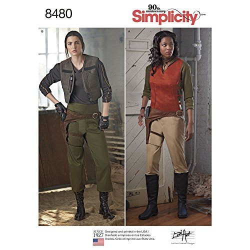 Simplicity 8480 H5 Misses' Costumes by Lori Ann Designs SEWING PATTERN, Size 6-14