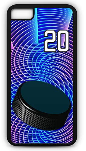 iPhone 6s Case Hockey H049Z Choice of Any Personalized Name or Number Tough Phone Case by TYD Designs in Black Plastic and Black Rubber with Team Jersey Number 20